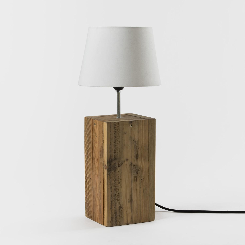 Lampara Madera Reciclada Pequena Pro Bosc - Lampara-de-madera